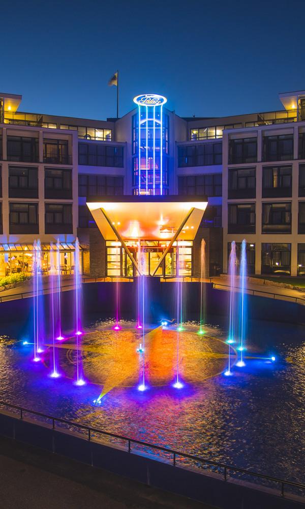 Preston Palace by night